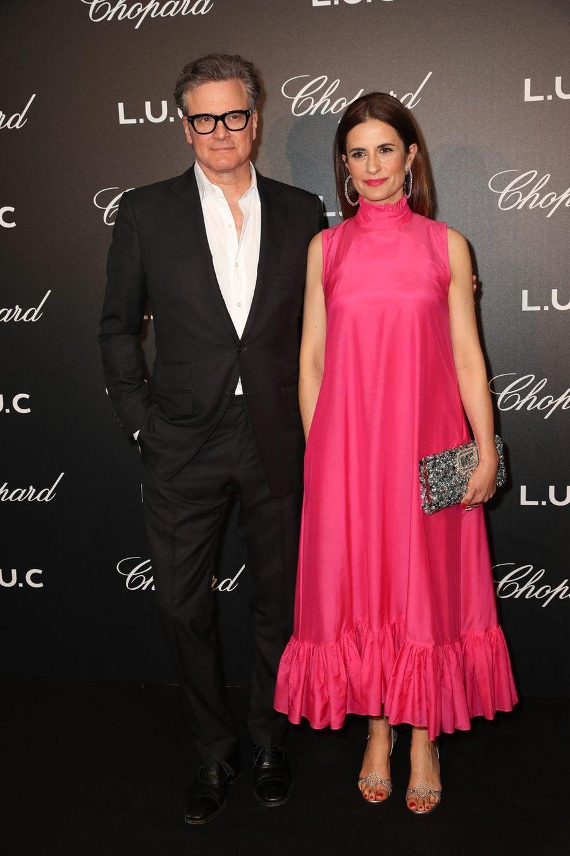 Colin Firth et sa femme Livia Giuggiolià Cannes, le 21 mai 2019