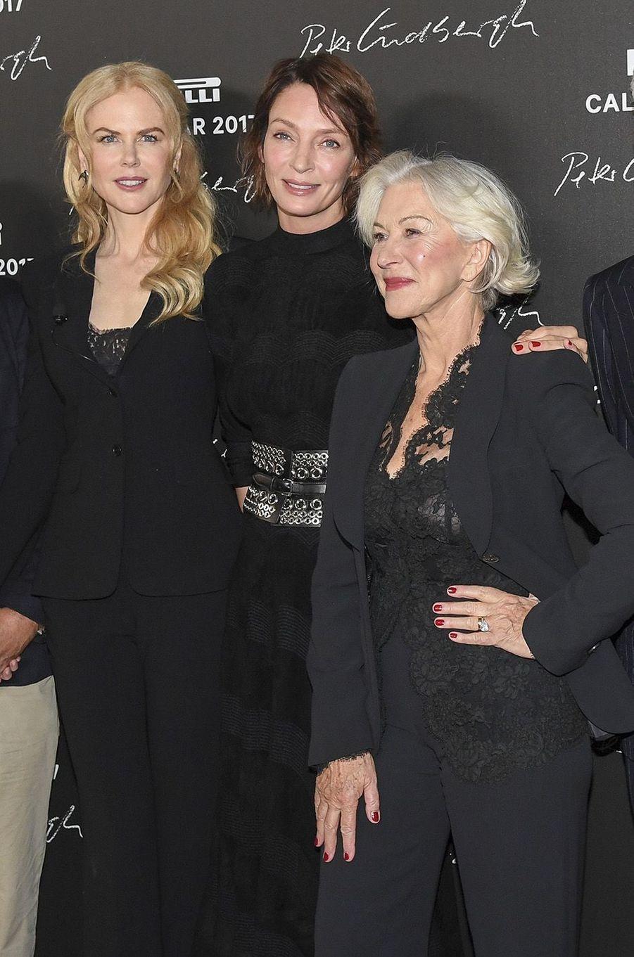 Nicole Kidman, Uma Thurman et Helen Mirren ont envoûté Paris pour Pirelli.