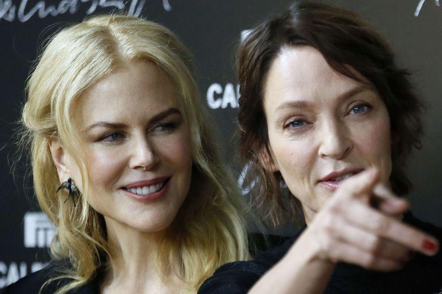 Nicole Kidman et Uma Thurman complices à Paris.