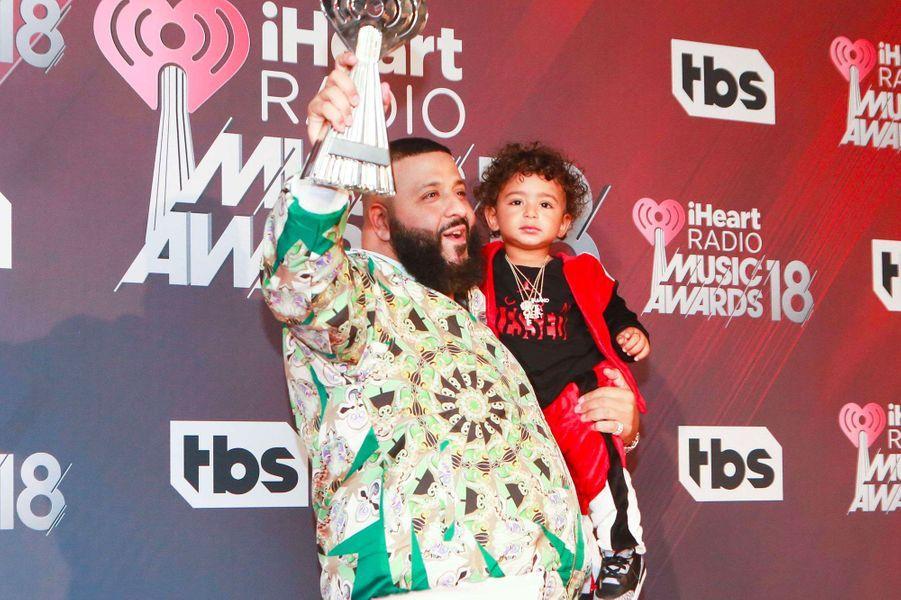 DJ Khaled et son fils aux iHeart Radio Music Awards