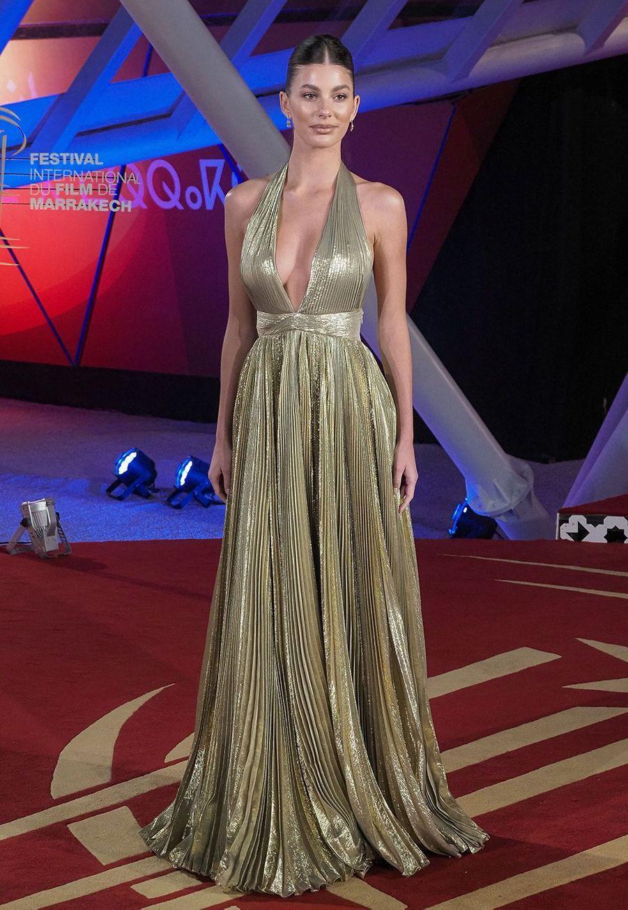 "Camila Morrone se rend à la projection du film""Mickey and the Bear"" lors Marrakech International Film Festival jeudi 5 décembre 2019."