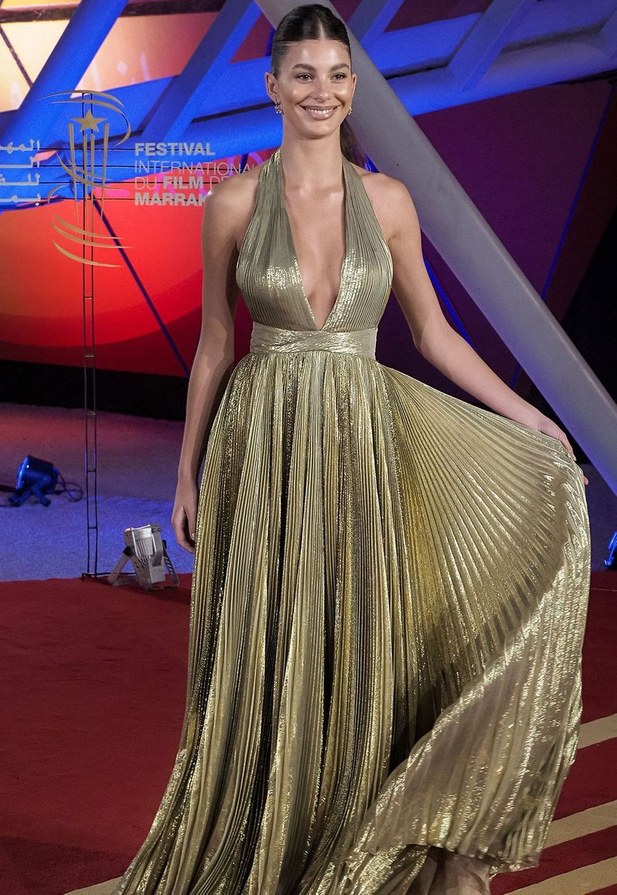 "Camila Morrone se rend à la projection du film ""Mickey and the Bear""lors Marrakech International Film Festival jeudi 5 décembre 2019."