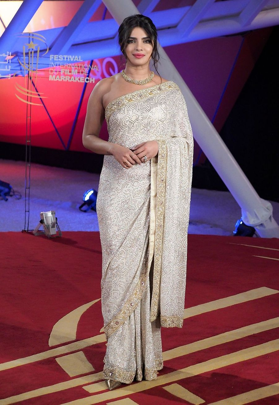 Priyanka Choprase rend à l'hommage au cinéma Australien lors Marrakech International Film Festival jeudi 5 décembre 2019.