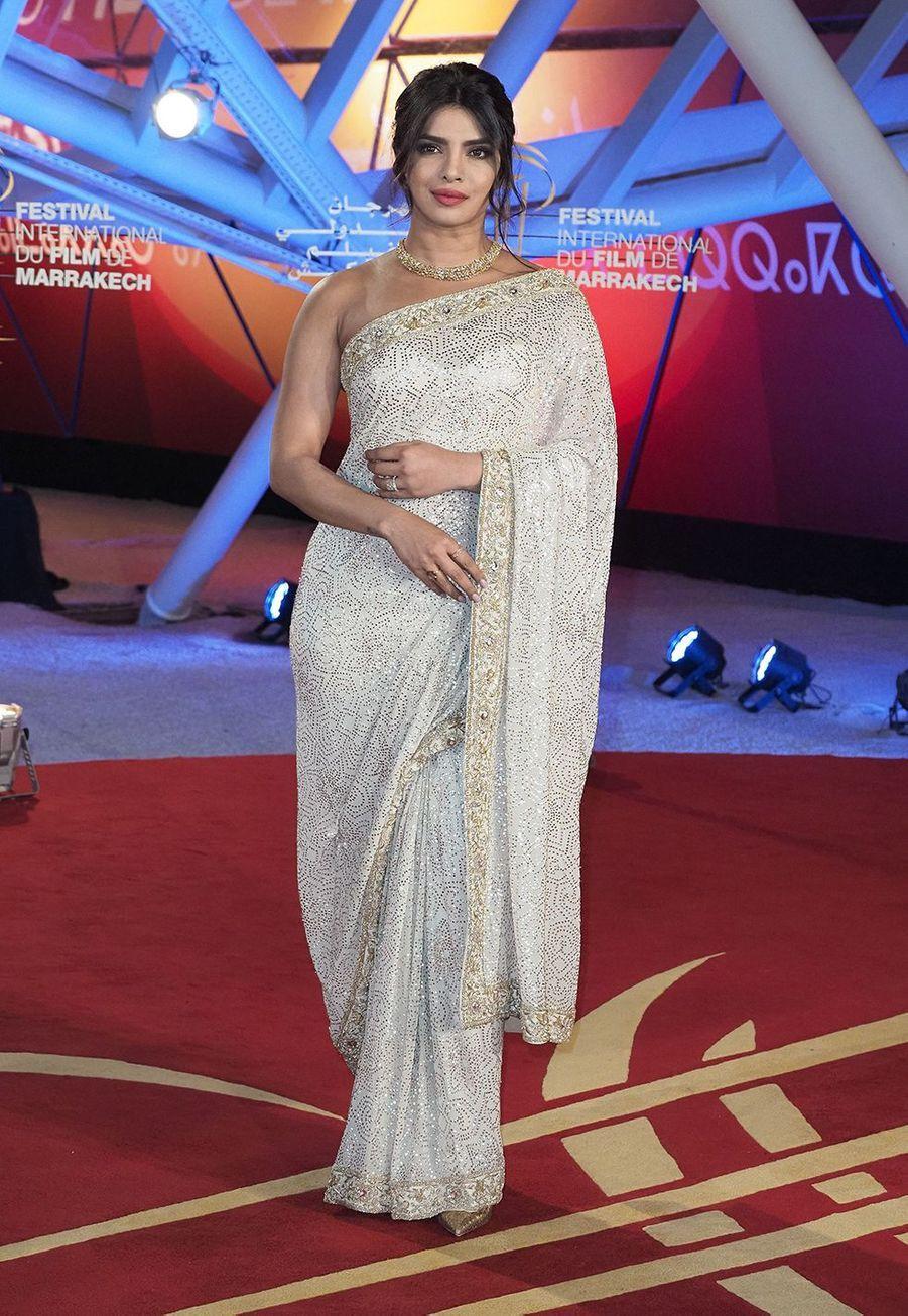 Priyanka Chopra se rend à l'hommage au cinéma Australienlors Marrakech International Film Festival jeudi 5 décembre 2019.