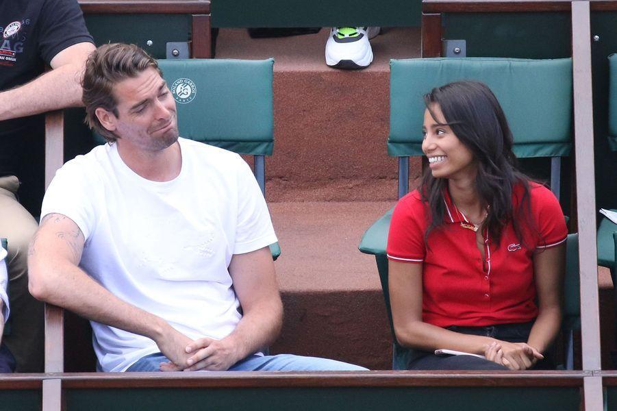 Camille et Hajiba dans les tribunes de Roland Garros, le 4 juin 2018.
