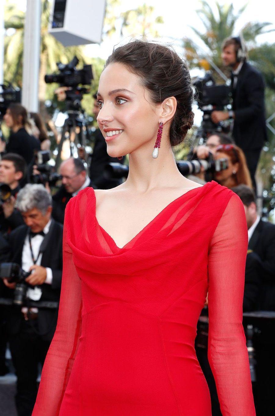 Jenaye Noah à Cannes.