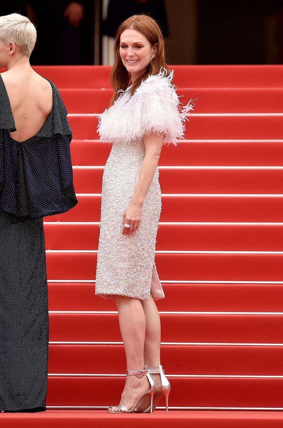Julianne Moore au festival de Cannes, le 18 mai 2017.