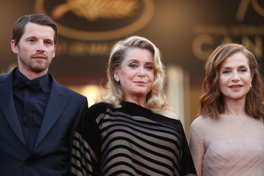 Pierre Deladonchamps, Catherine Deneuve et Isabelle Huppert