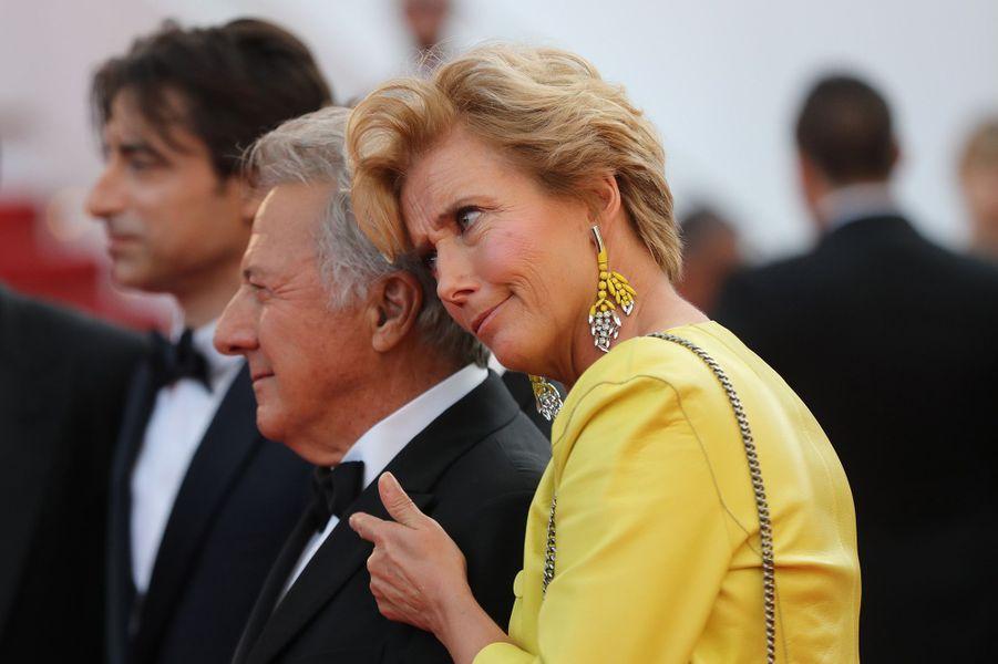 Emma Thompson et Dustin Hoffman à Cannes, le 21 mai 2017.
