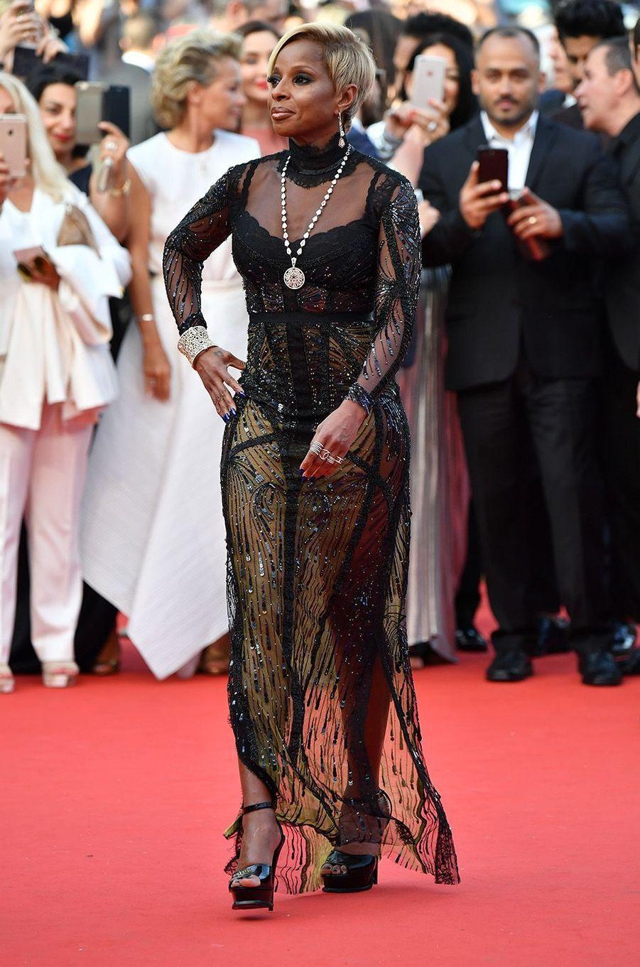 Mary J. Bligeà Cannes, le 21 mai 2017.