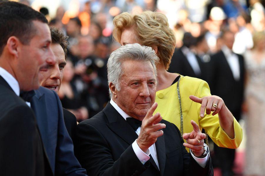 Toute l'équipe du film«The Meyerowitz Stories» à Cannes, le 21 mai 2017.