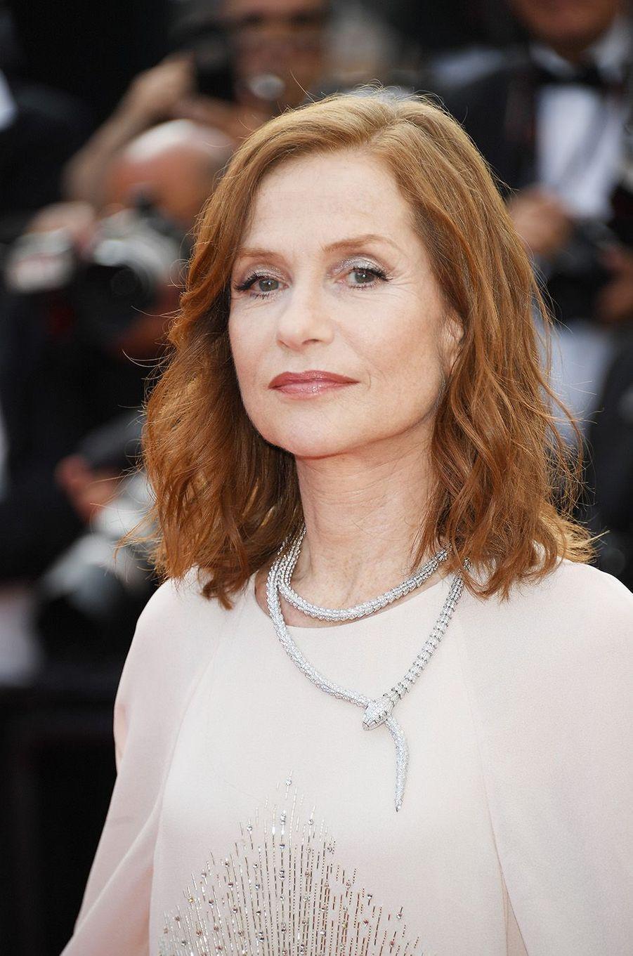 Isabelle Huppert à Cannes, le 21 mai 2017.