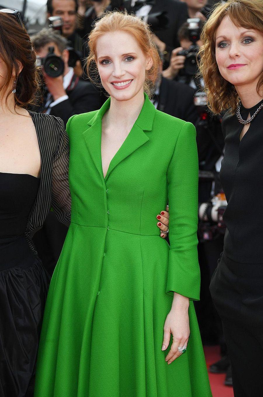 Jessica Chastainà Cannes, le 21 mai 2017.