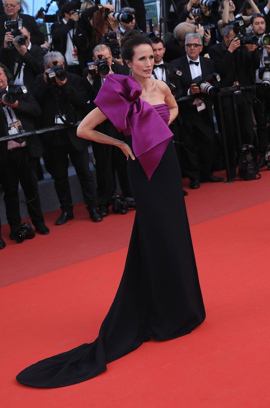 Andy MacDowellà Cannes, le 21 mai 2017.