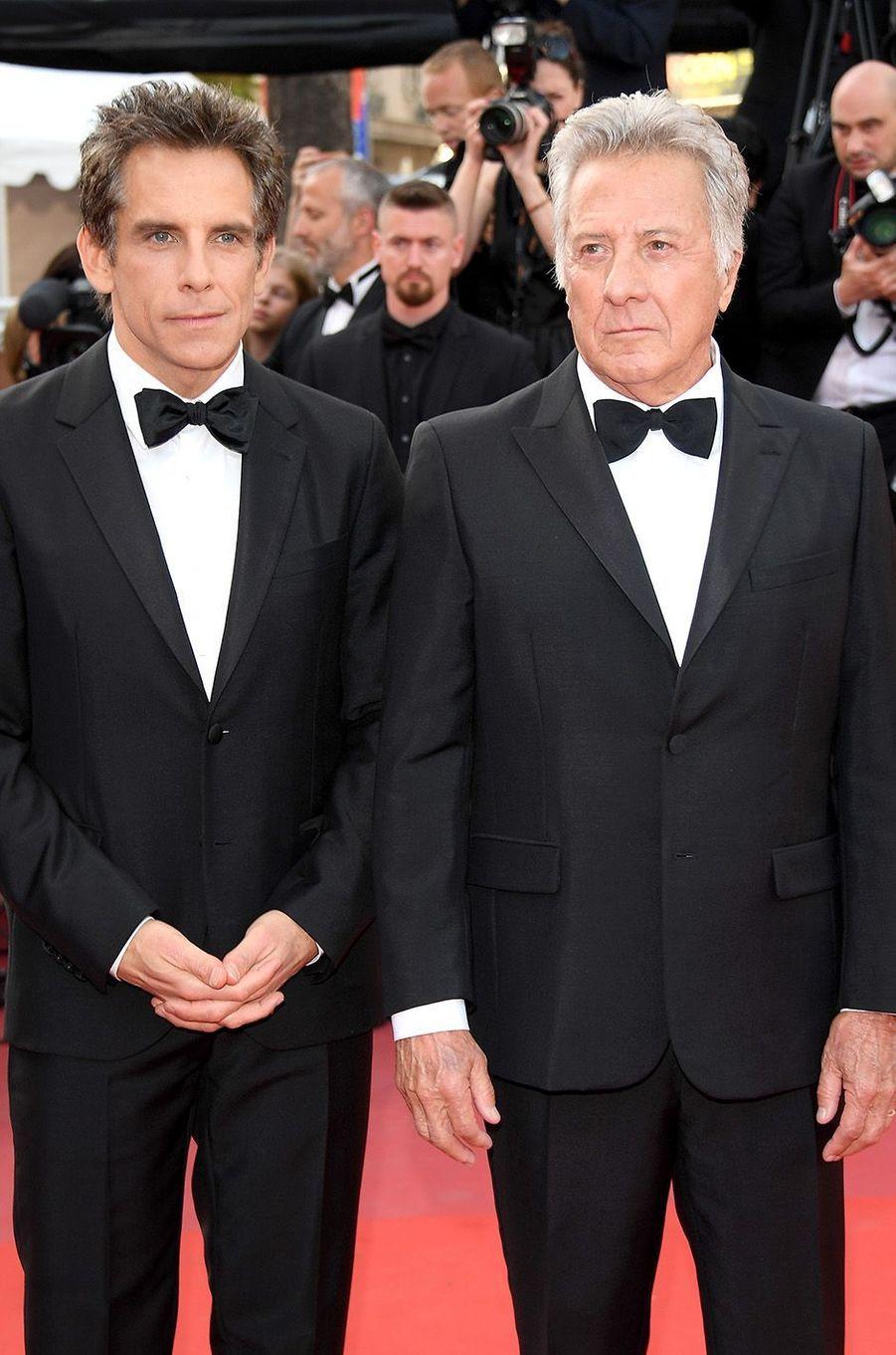 Dustin Hoffman etBen Stiller à Cannes, le 21 mai 2017.