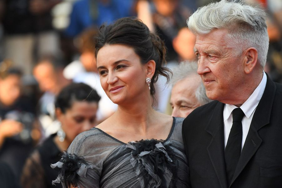 David Lynch et son épouse Emily à Cannes.