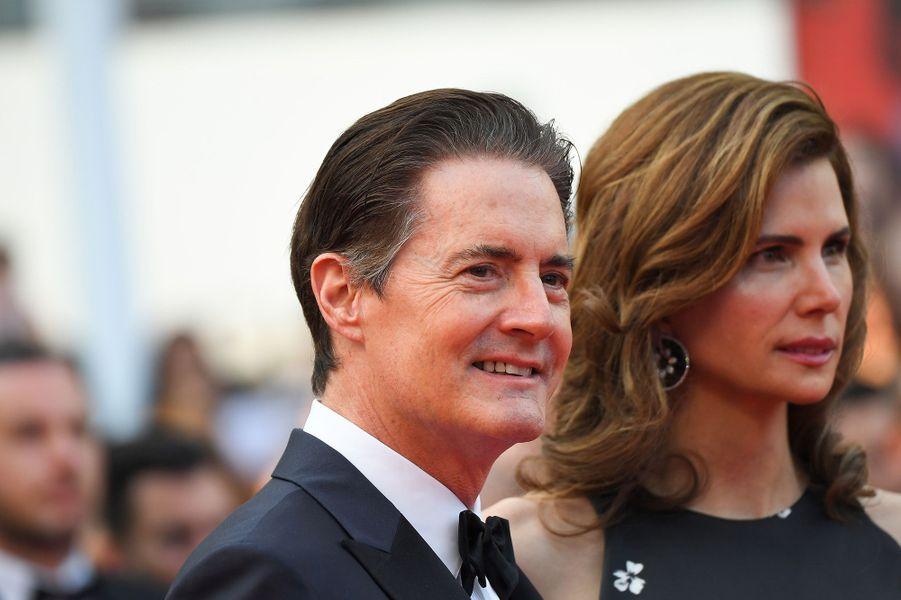 Kyle MacLachlan et son épouse Desiree Gruber à Cannes.