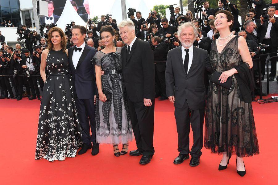 Kyle MacLachlan, Desiree Gruber, Sabrina Sutherland, David Lynch et Emily Stofle à Cannes.