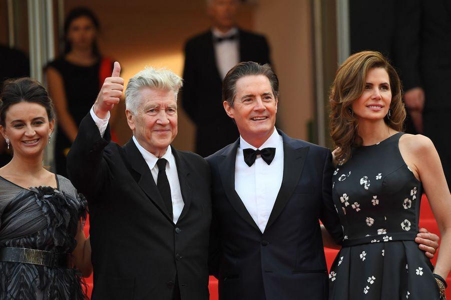 Kyle MacLachlan, Desiree Gruber, David Lynch et Emily Stofle à Cannes.
