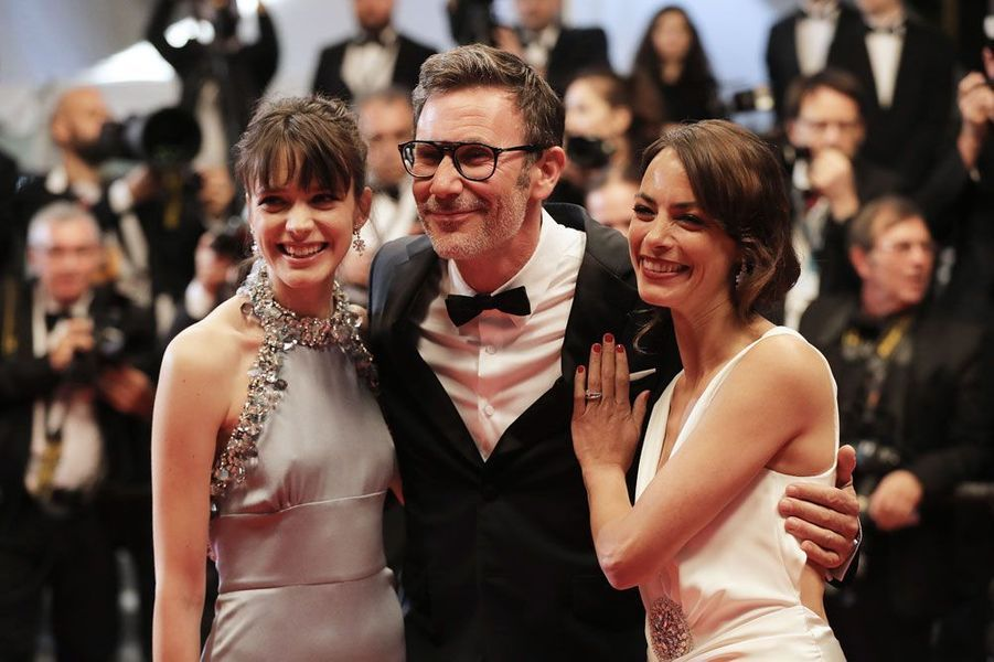 Bérénice Bejo, Michel Hazanavicius et Stacy Martin