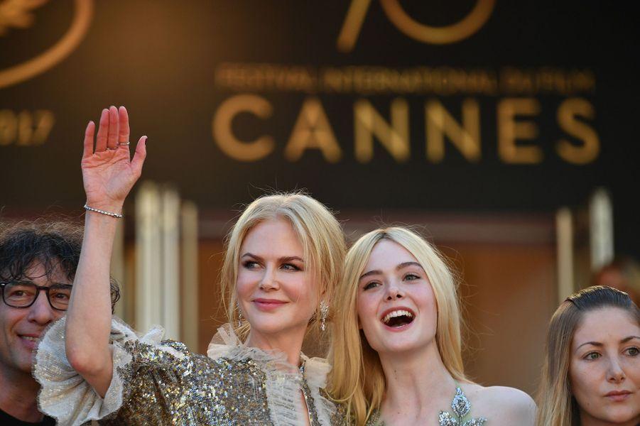 Nicole Kidman et Elle Fanning àCannes, le 21 mai 2017.