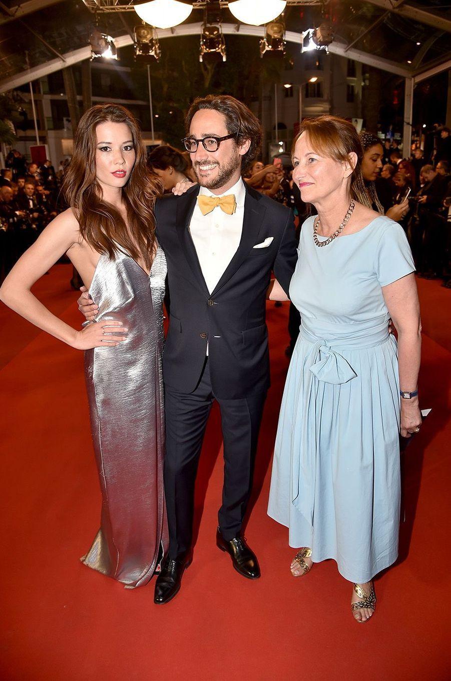 Ségolène Royal, Thomas Hollande et Emilie Broussouloux à Cannes, le 27 mai 2017.