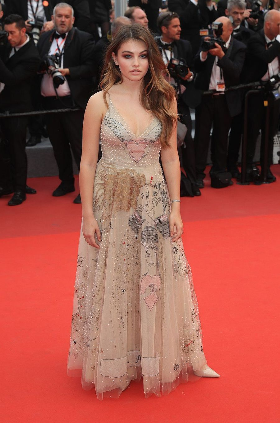 Thylane Blondeau au festival de Cannes, le 18 mai 2017.
