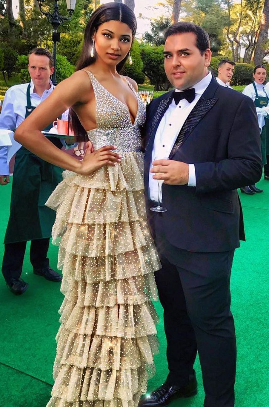 Danielle Herrington et Ali Karoui à Cannes.