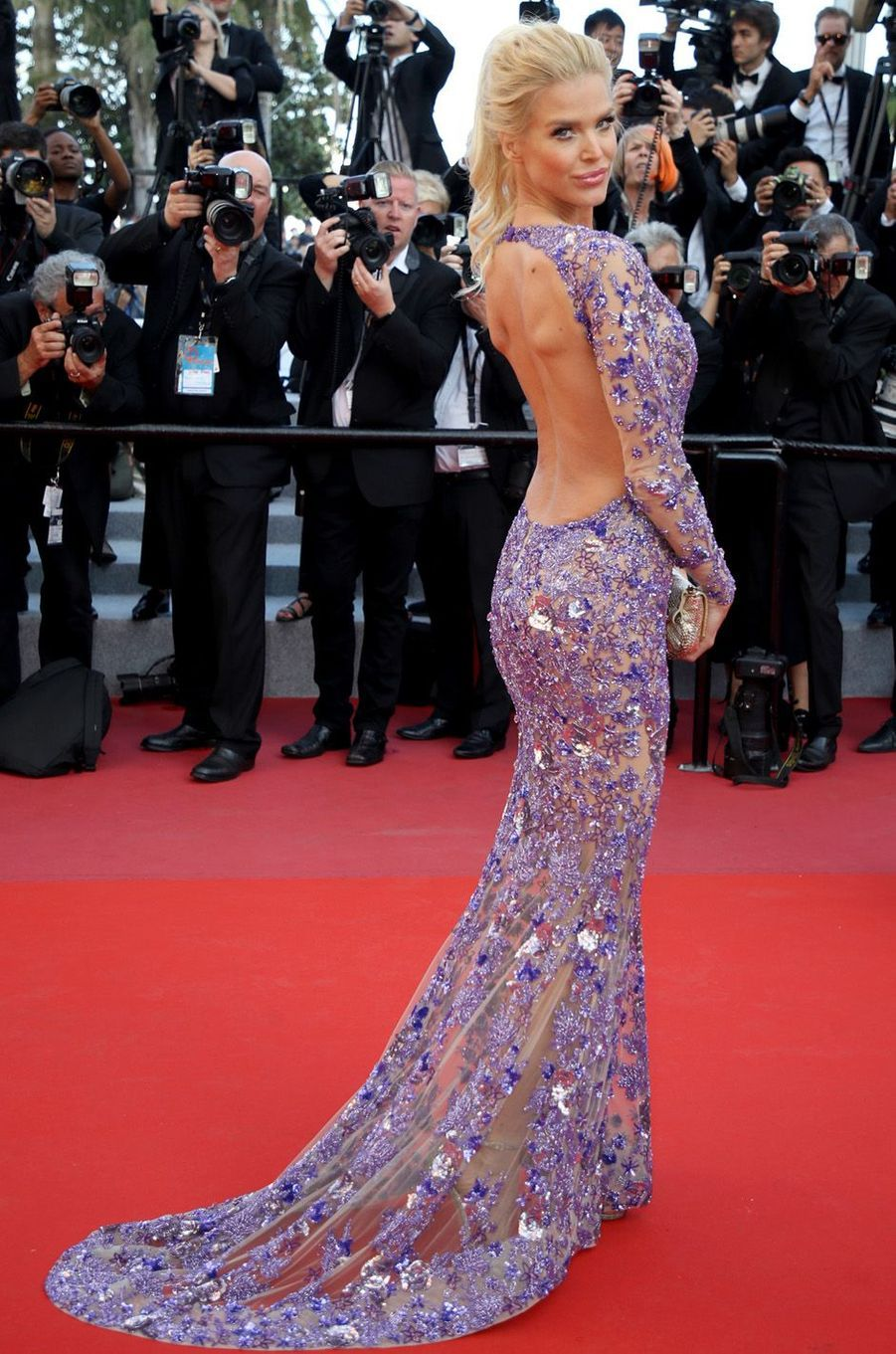 Victoria Silvstedt à Cannes.