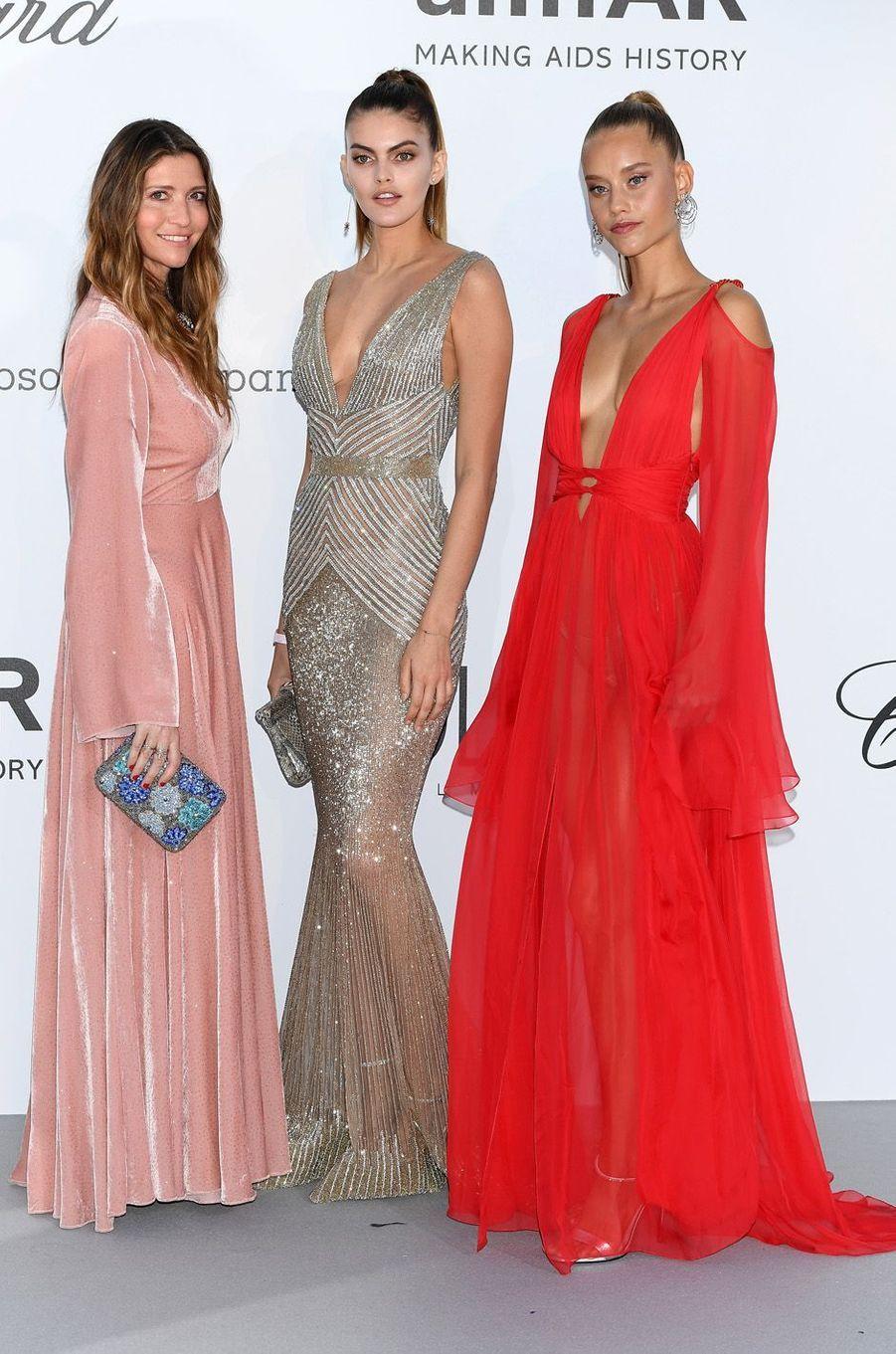 Valentina Micchetti, Kamila Hansen et Chase Carter à Cannes.