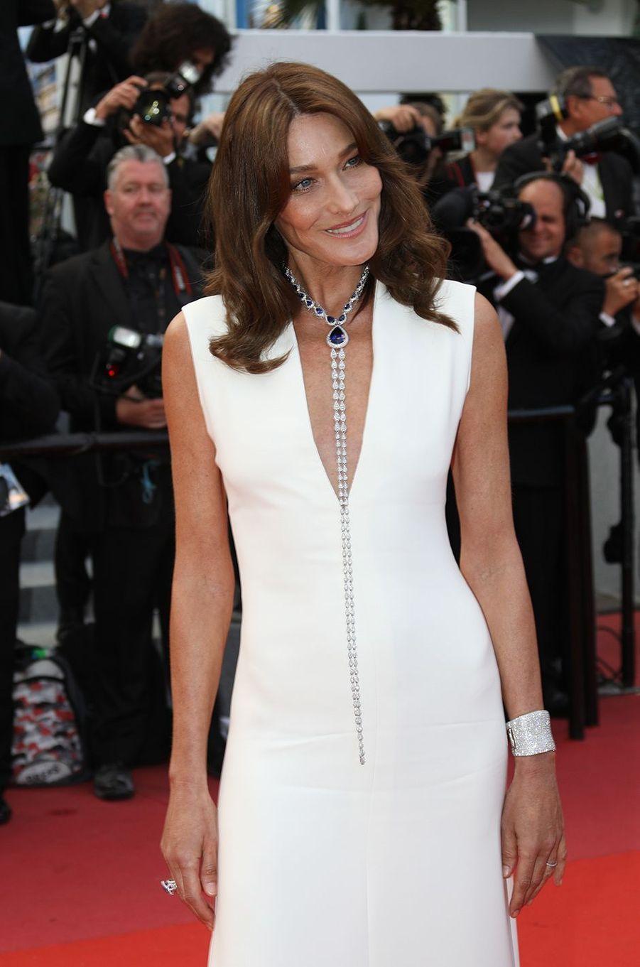 Carla Bruni-Sarkozy, l'élégance sur la Croisette, le 13 mai 2018.