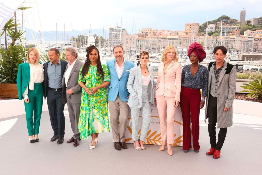 Lea Seydoux, Andrey Zvyagintsev, Ava DuVernay, Denis Villeneuve, Kristen Stewart, Cate Blanchet, Khadja Nin et Chang Chen