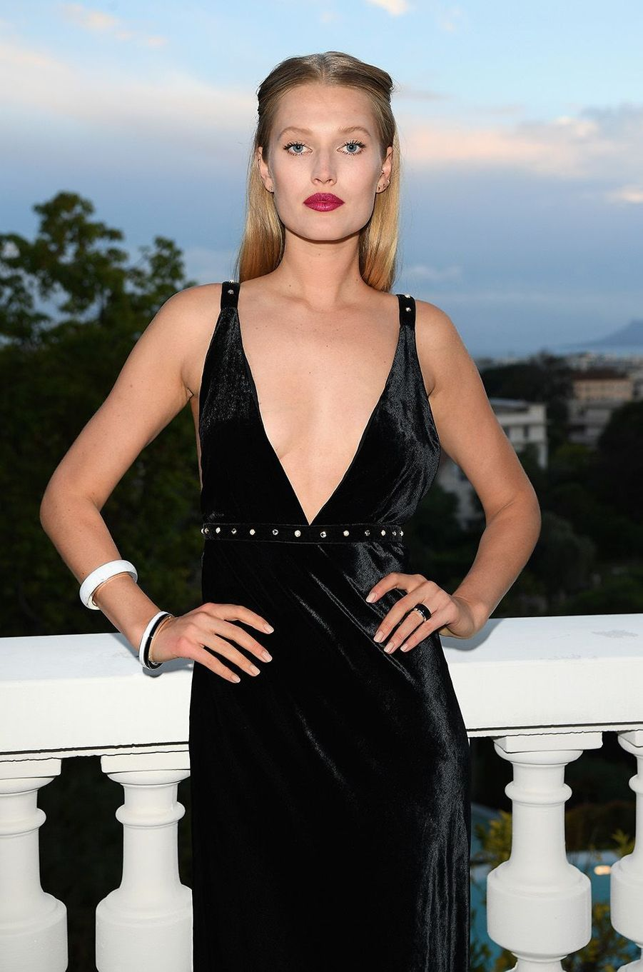 Toni Garrn à la soirée Montblanc à Cannes, le 16 mai 2018.