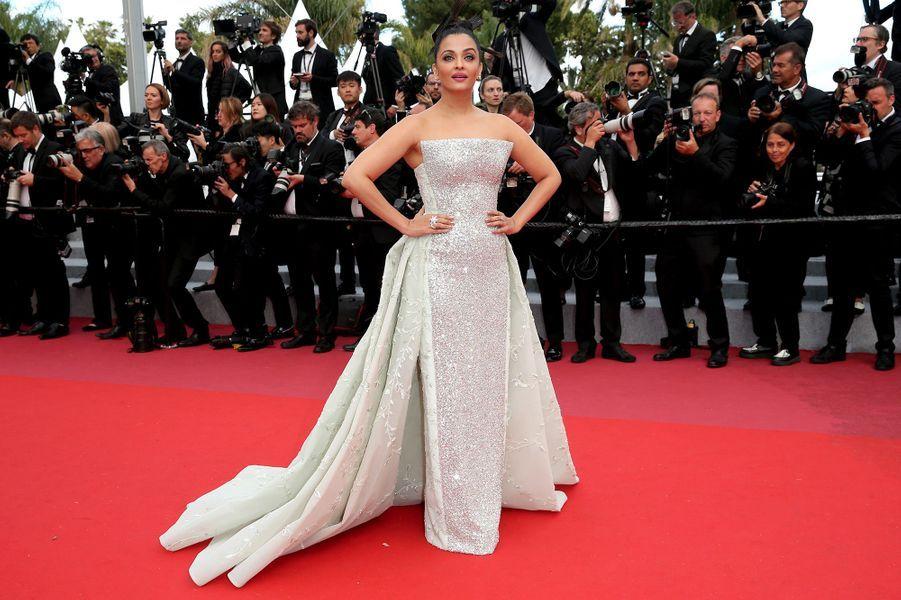 Aishwarya Raià Cannes, le 13 mai 2018.