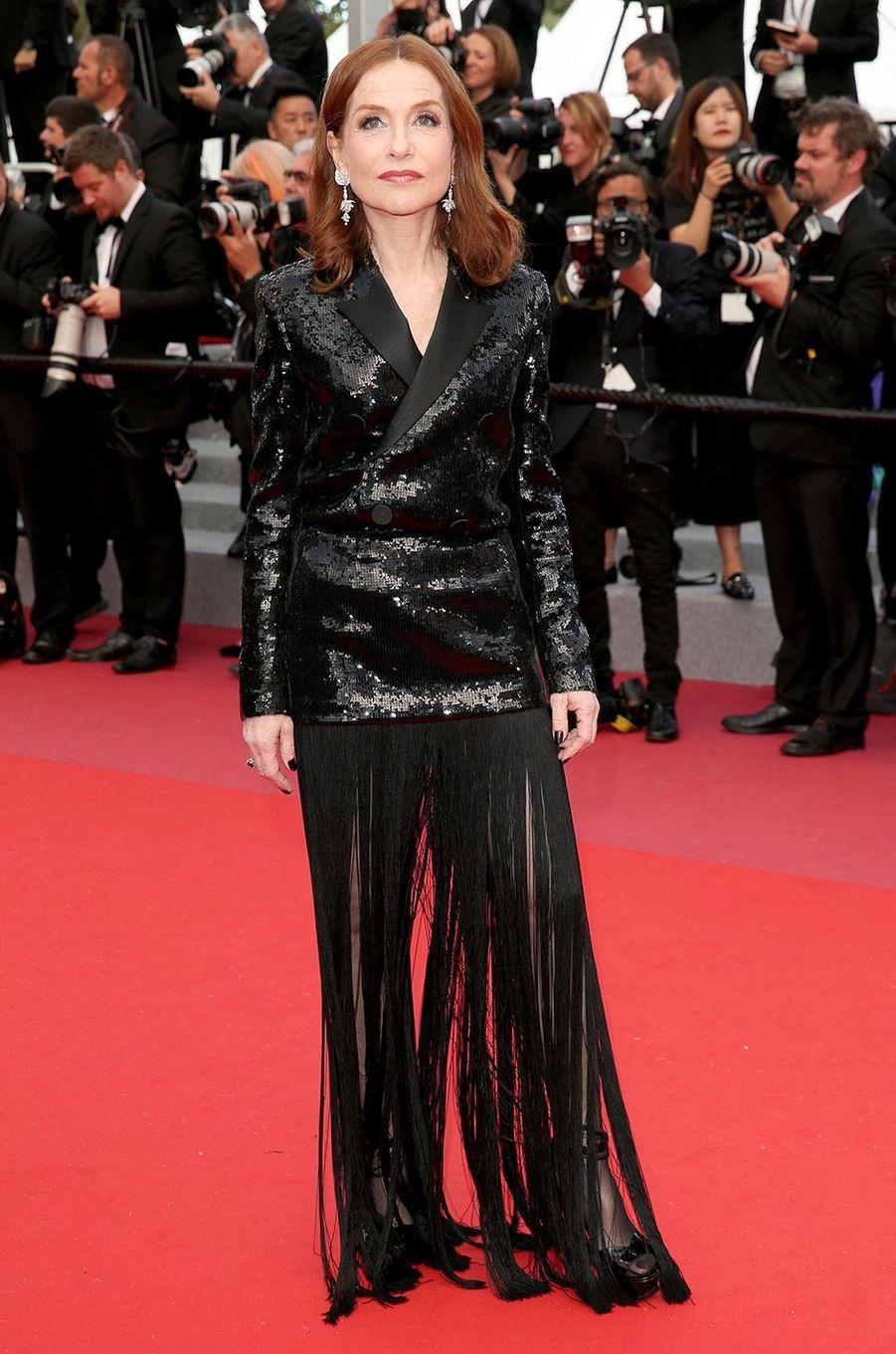Isabelle Huppertà Cannes, le 13 mai 2018.