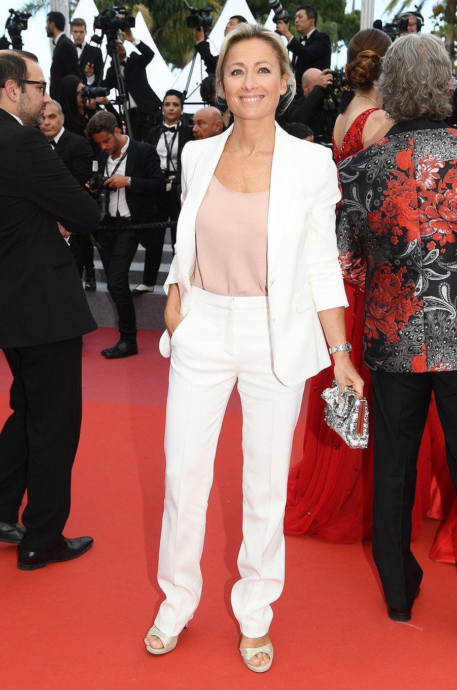 Anne-Sophie Lapix à Cannes, le 18 mai 2018.