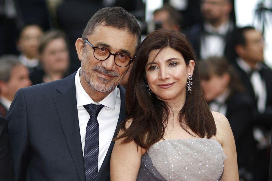 Nuri Bilge Ceylan et son épouse sur le tapis rouge de Cannes, le 18 mai 2018.