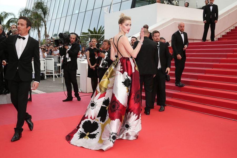 Amber Heard à Cannes, le 10 mai 2018.