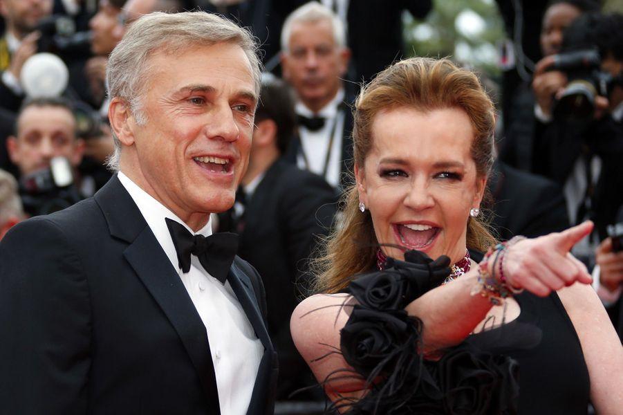 Christoph Waltz et Caroline Scheufele montent les marches du Festival de Cannes, mercredi 9 mai
