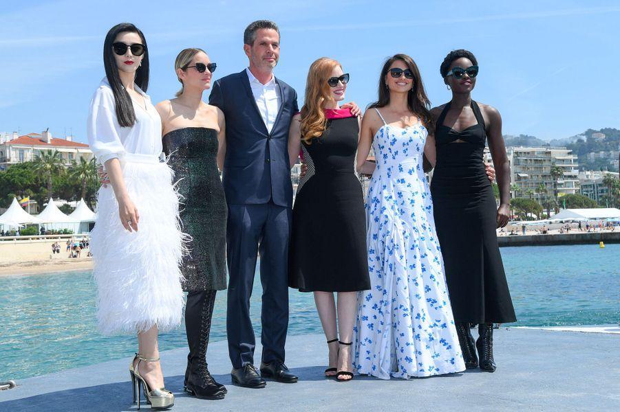 Fan Bingbing, Marion Cotillard, Simon Kinberg, Jessica Chastain, Penélope Cruz et Lupita Nyong'o sur la Croisette
