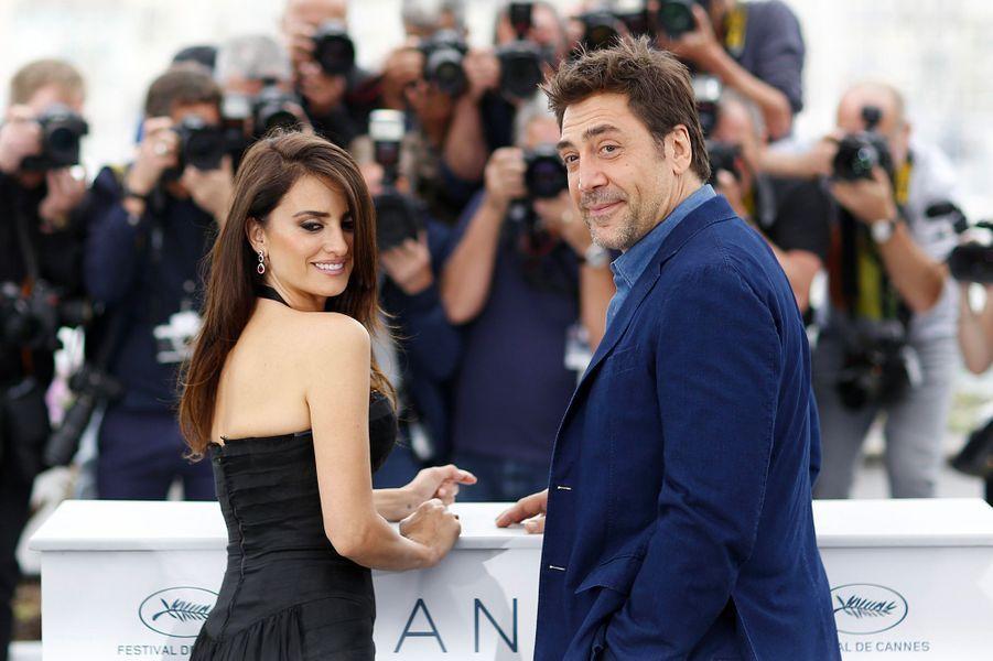 Penélope Cruz et Javier Bardem sur la Croisette mercredi 9 mai 2018