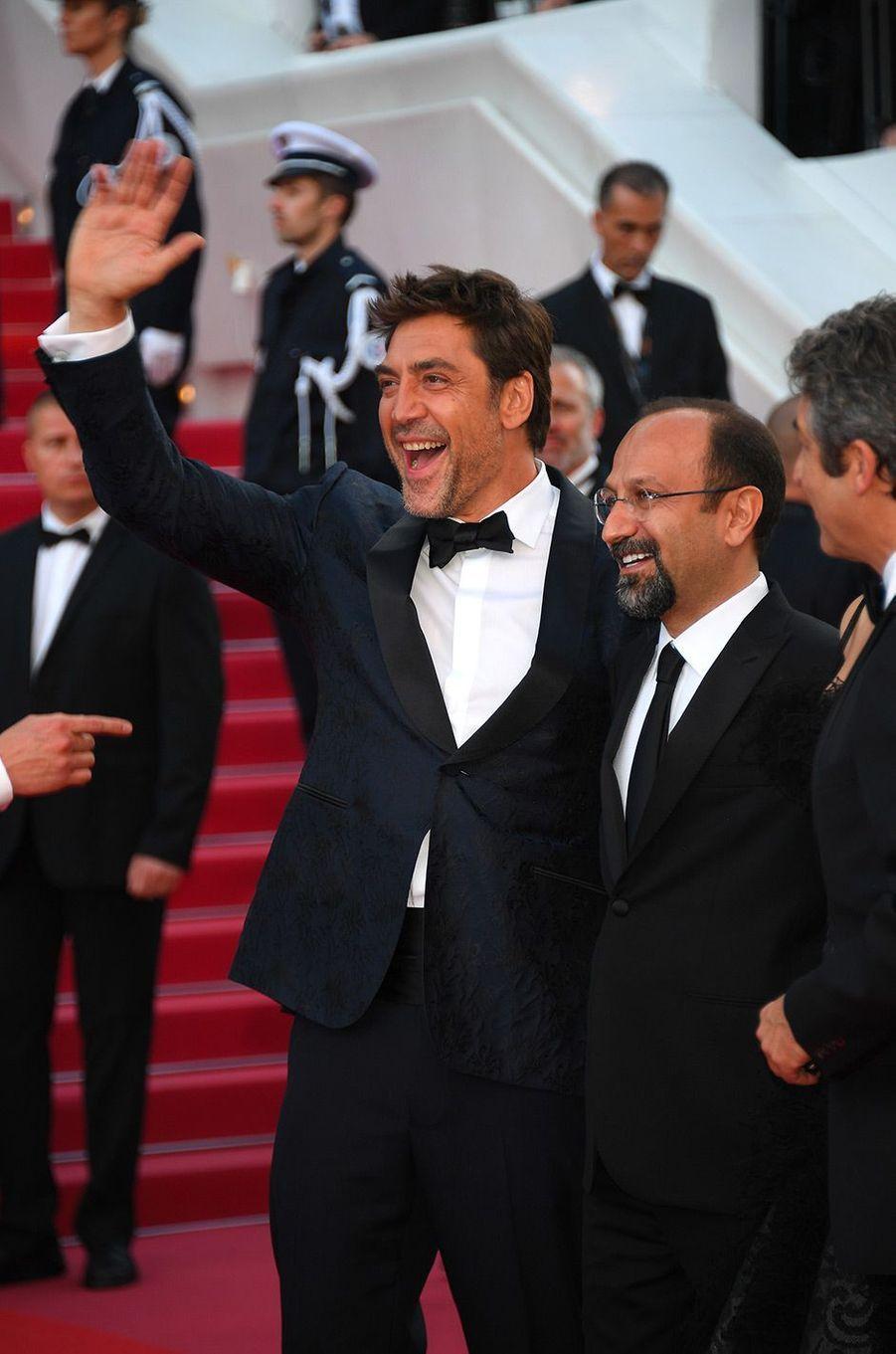 Javier Bardem et Asghar Farhadi à la cérémonie d'ouverture du 71ème Festival de Cannes