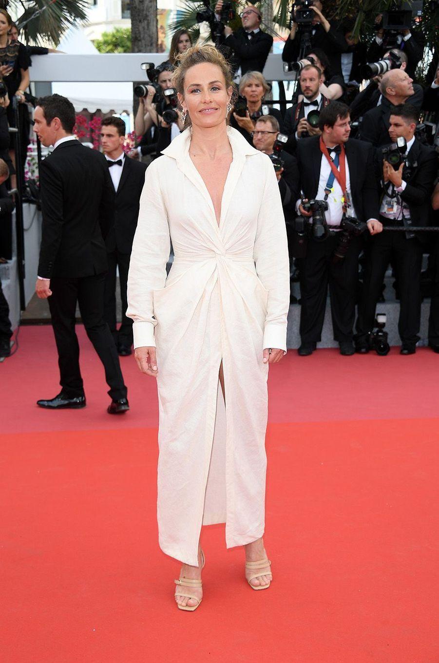 Cécile de Francesur le tapis rouge de la 71e édition du festival de Cannes, le 8 mai 2018.