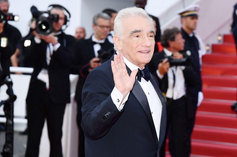 Martin Scorsesesur le tapis rouge de la 71e édition du festival de Cannes, le 8 mai 2018.
