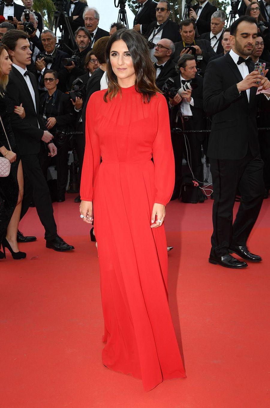 Géraldine Nakachesur le tapis rouge de la 71e édition du festival de Cannes, le 8 mai 2018.
