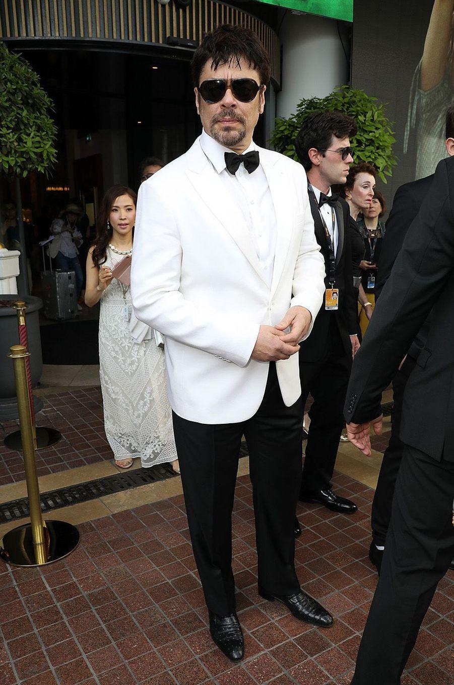 Benicio Del Torosur le tapis rouge de la 71e édition du festival de Cannes, le 8 mai 2018.