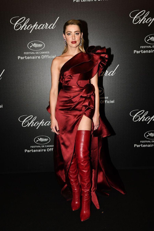 Amber Heard à la soirée Chopard organisée en marge du 72e Festival de Cannes le 17 mai 2019