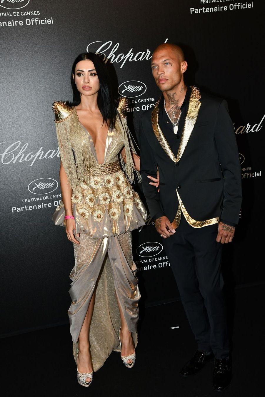 Andreea Sasu et Jeremy Meeksà la soirée Chopard organisée en marge du 72e Festival de Cannes le 17 mai 2019