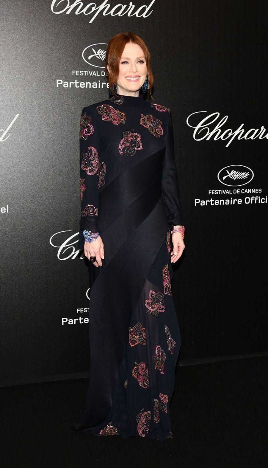 Julianne Mooreà la soirée Chopard organisée en marge du 72e Festival de Cannes le 17 mai 2019