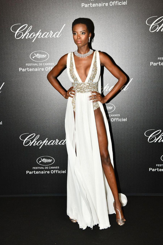 Maria Borgesà la soirée Chopard organisée en marge du 72e Festival de Cannes le 17 mai 2019